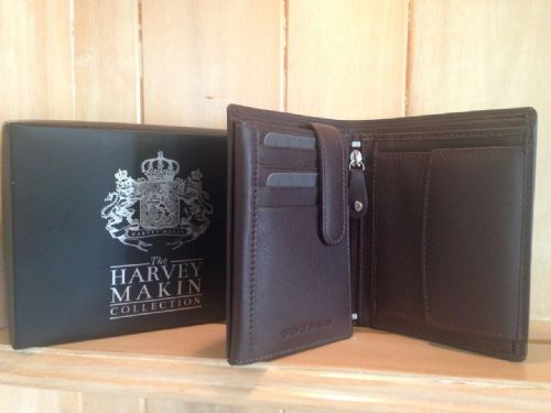 Brown Leather Luxury Wallet For Men - Multi Purpose Wallet Gift by Harvey Makin